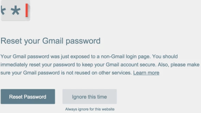 Password Alert Chrome Extension Protects Google Accout Against Phishing Attacks