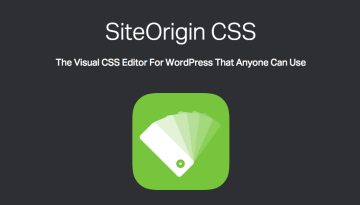 SiteOrigin CSS is a real-time visual theme editor for WordPress to add custom CSS