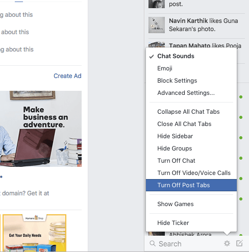 Disable Facebook's new Pop-Up Posts