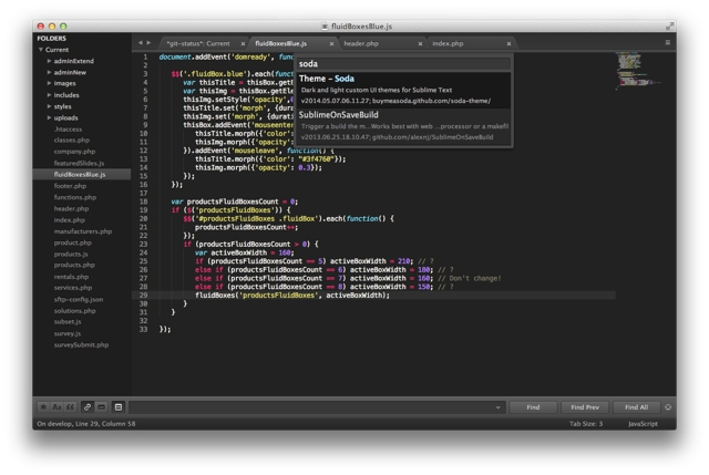 Sublime Text for Mac OS