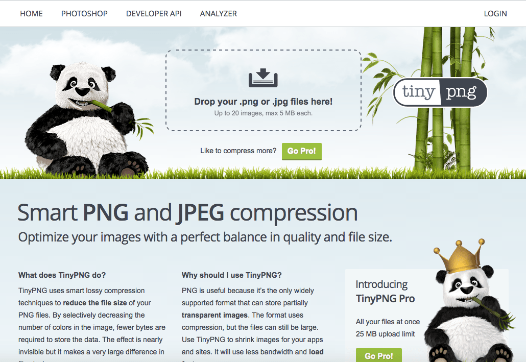 Tiny PNG Image compression tool