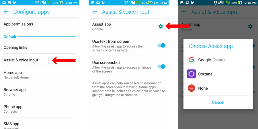 Cortana As Default Assistant On Android