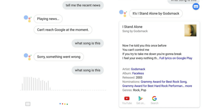 how to get google assistant to say your name