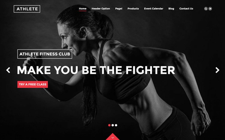 Athlete WordPress theme