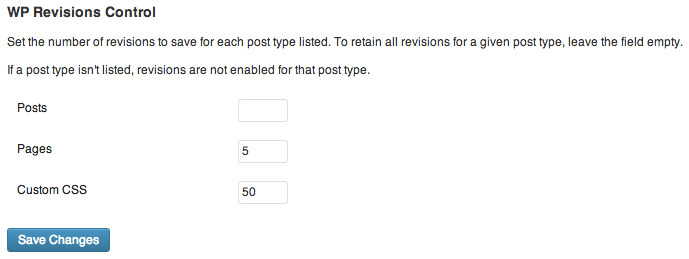 Limit Number of WordPress Revisions Using WordPress Plugin