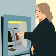 withdrawing from an ATM