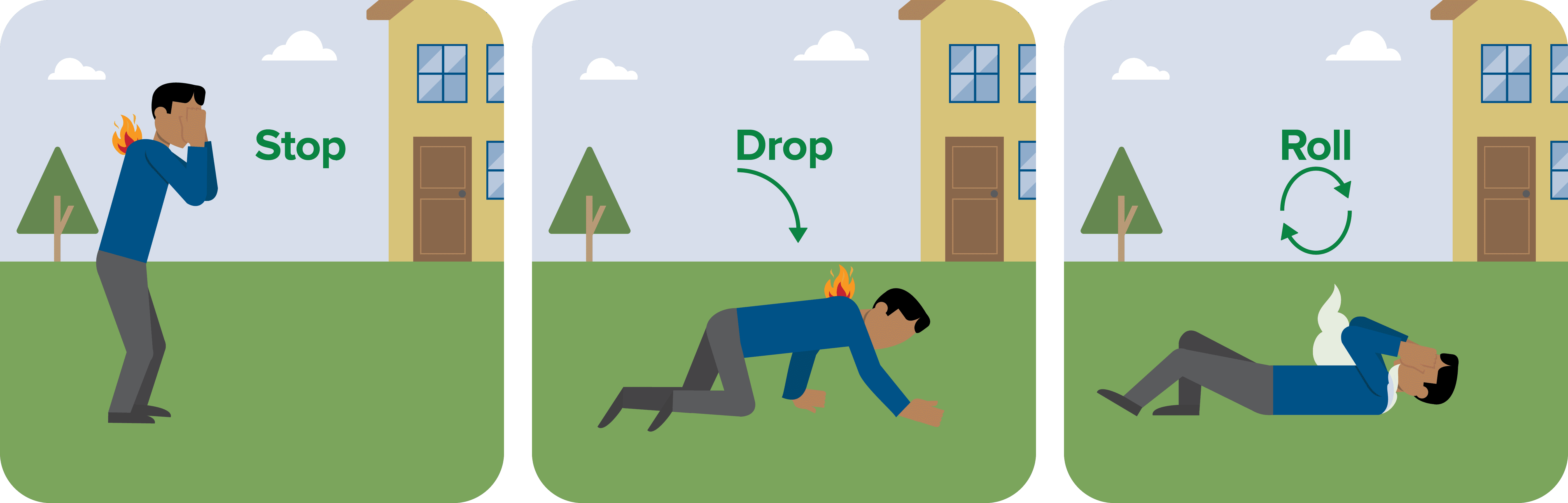 Pictograph Stop Drop And Roll