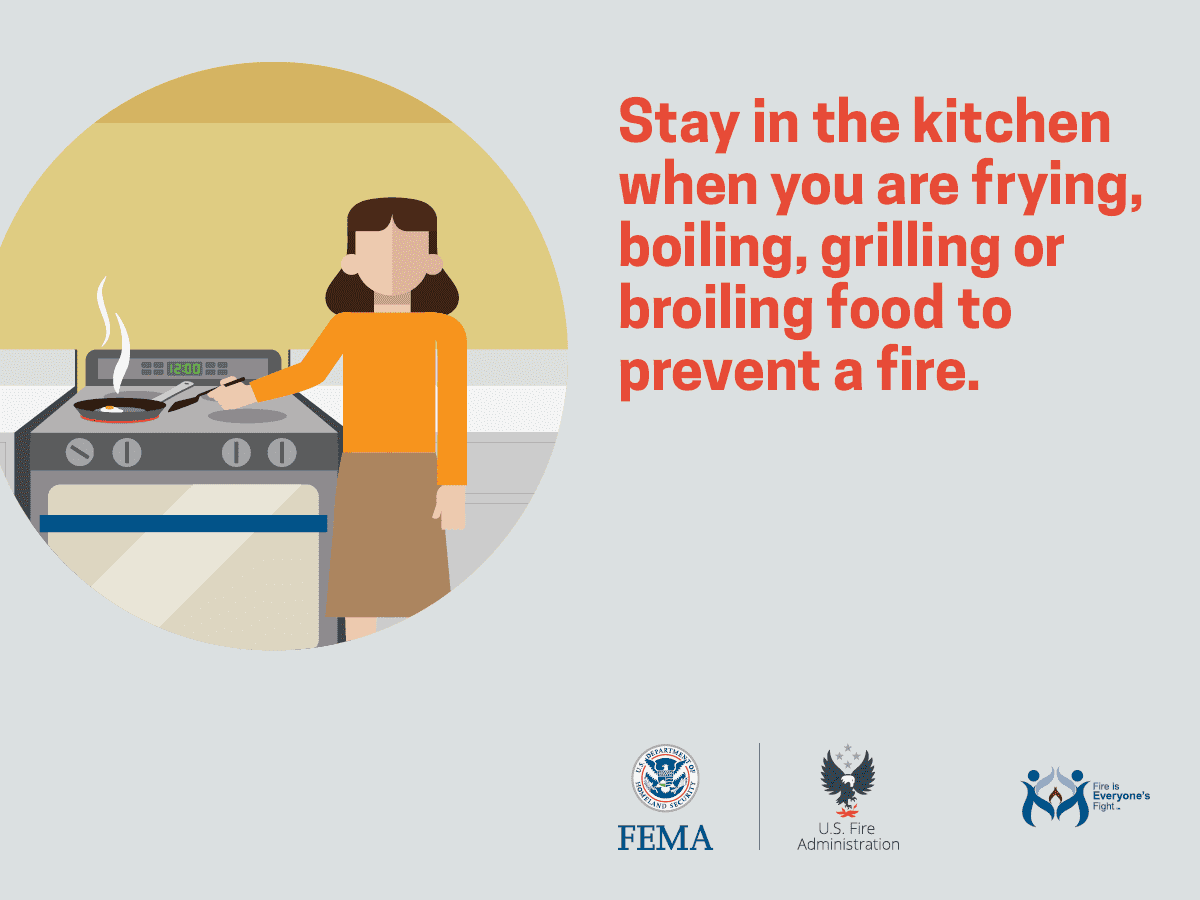 Cooking Fire Safety Outreach Materials