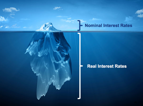 Iceberg, Nominal Interest Rates and Real Interest Rates