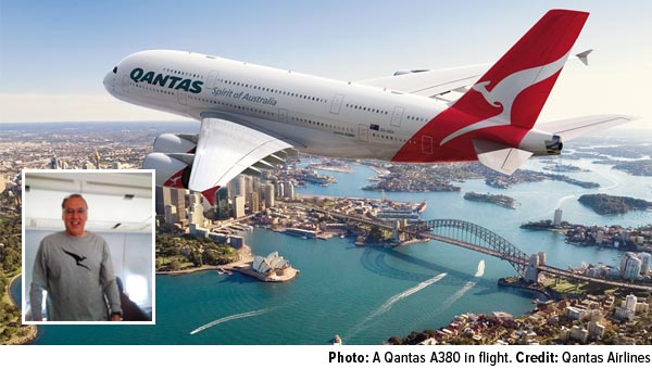 A Qantas A380 in flight