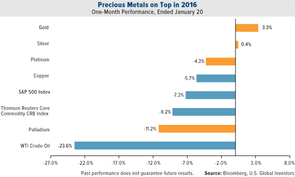 Precious Metals on Top in 2016
