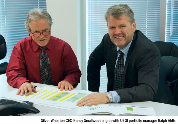 Silver Wheaton CEO Randy Smallwood (right) with USGI portfolio manager Ralph Aldis