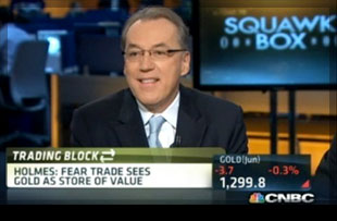 Frank Holmes CNBC Fear Trade sees gold as store of value