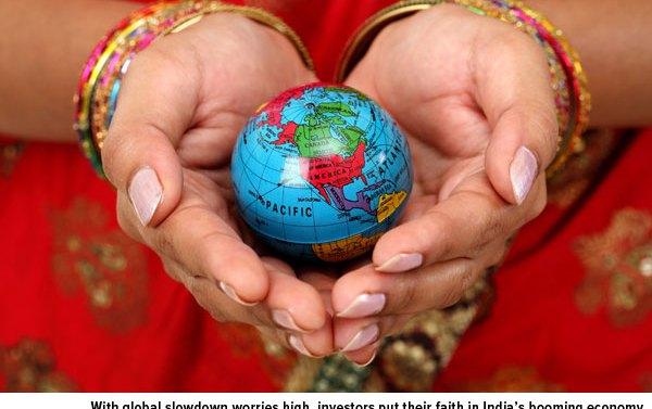Global slowdown worries high Indias booming economy
