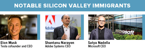 Notable Silicon Valley Immigrants