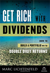 get rich with dividends. how to build a portfolio with double digit returns