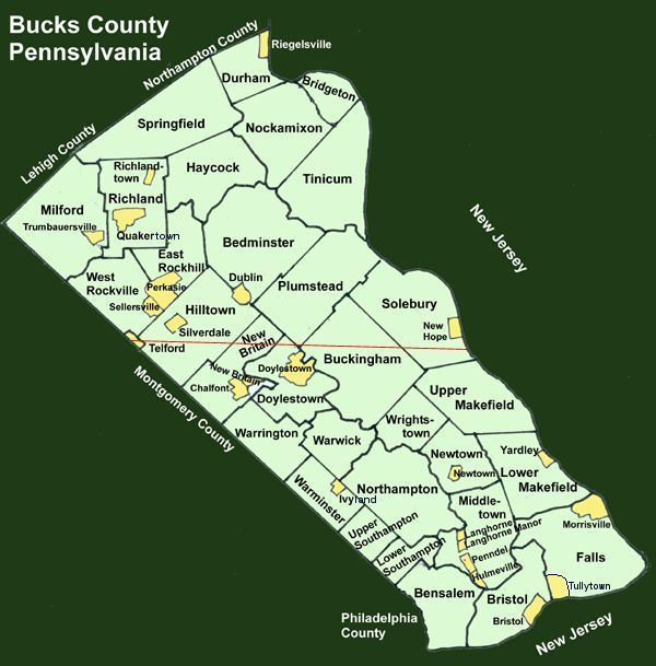 Towns In Lower Bucks County