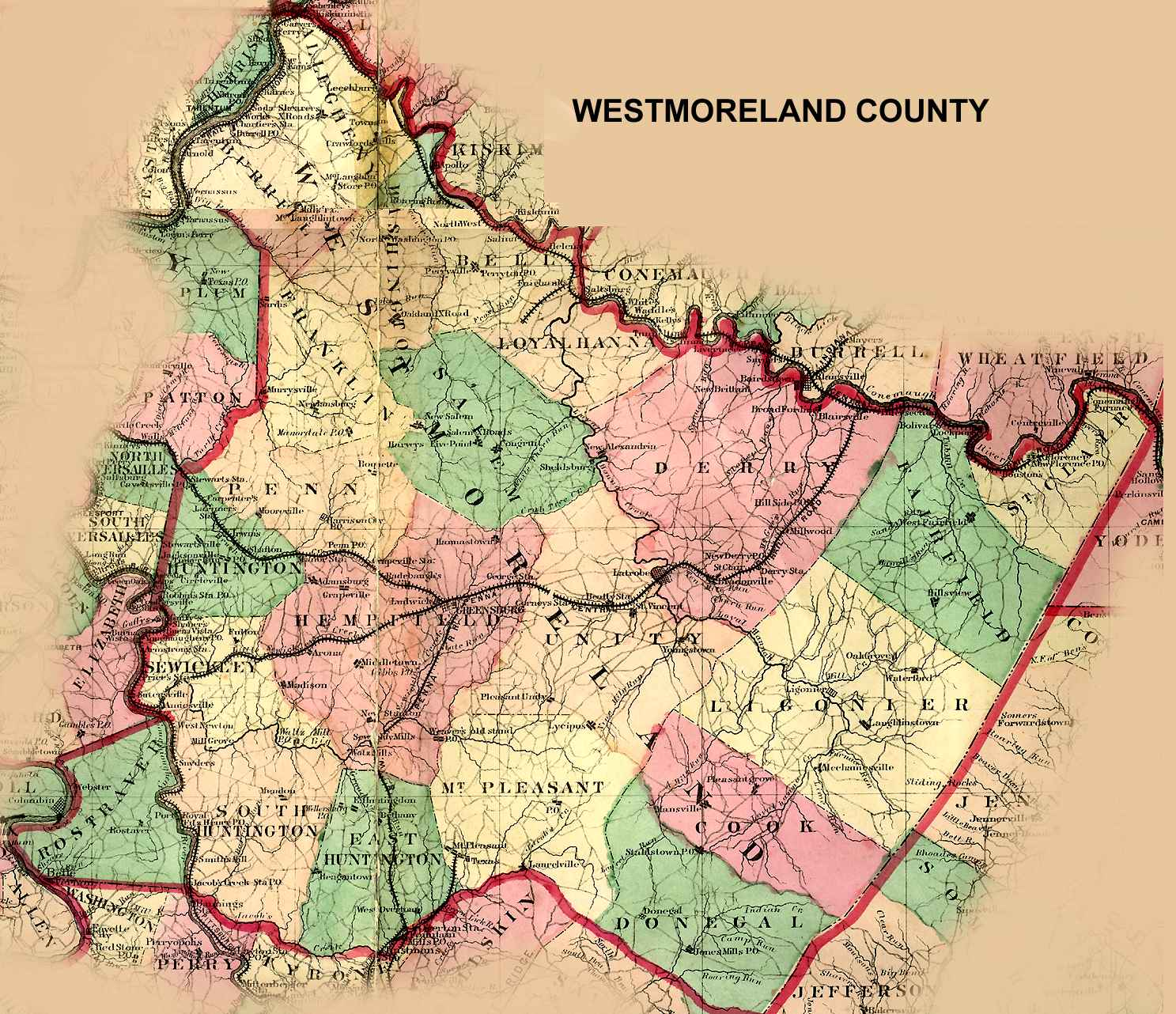 Salem Township Westmoreland County Pa Map