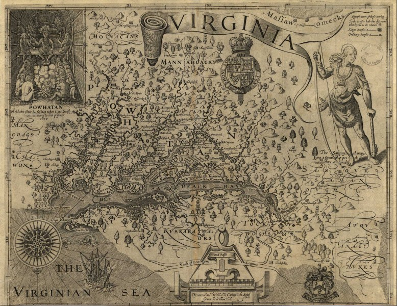 Virginia Maps  Virginia Digital Map Library  Table of Contents     Virginia 1624