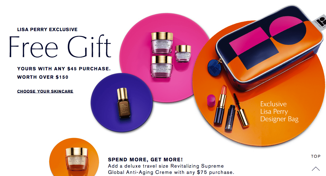 Estee Lauder gift with purchase - 7 pcs with $45 purchase + 1 ...