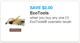 graphic about Ecotools Printable Coupon identified as Printable coupon codes: $2.00 off EcoTools brush AND $3.00 off