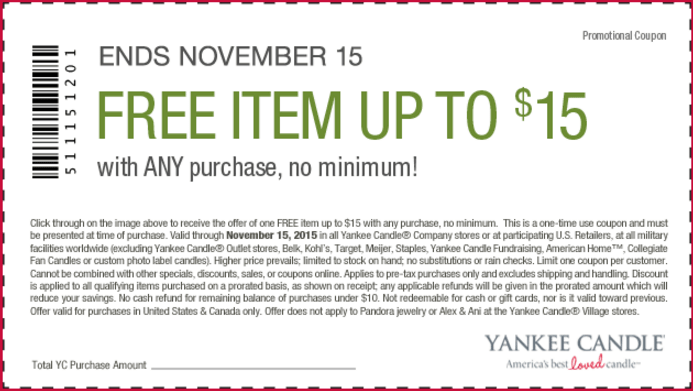 photograph about Yankee Candle $10 Off $25 Printable Coupon named Yankee Candle Printable Coupon Towards Preserve 10 Off A Minimal