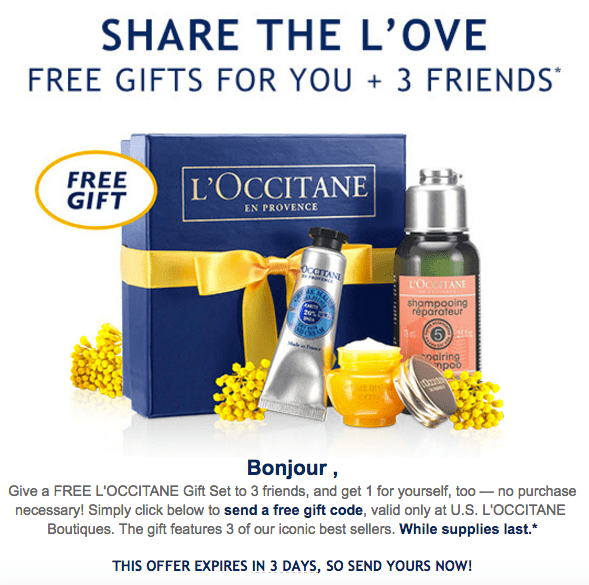 Update 2/6: L'Occitane Free 4 pcs gift box in store pick up(NO ...