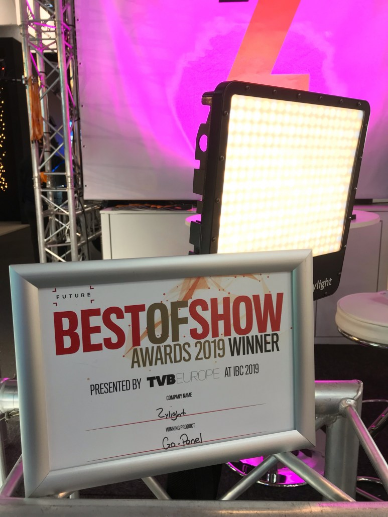 Zylight Go-Panel Best of Show Award