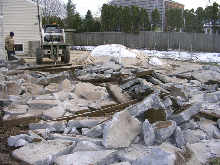 concrete patio removal long island contractor ny cement removal and demolition