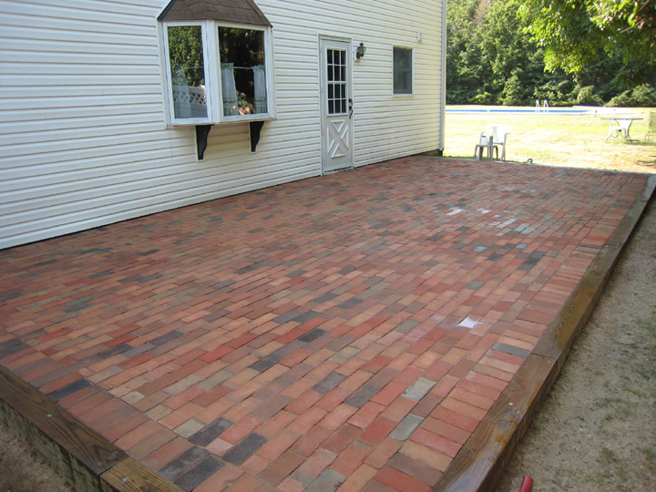 BRICK PATIOS | LONG ISLAND, NY | PAVERS | CEMENT ... on Red Paver Patio Ideas id=66140