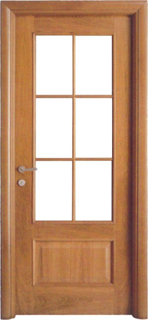 Usa de interior din lemn cu geam model A81