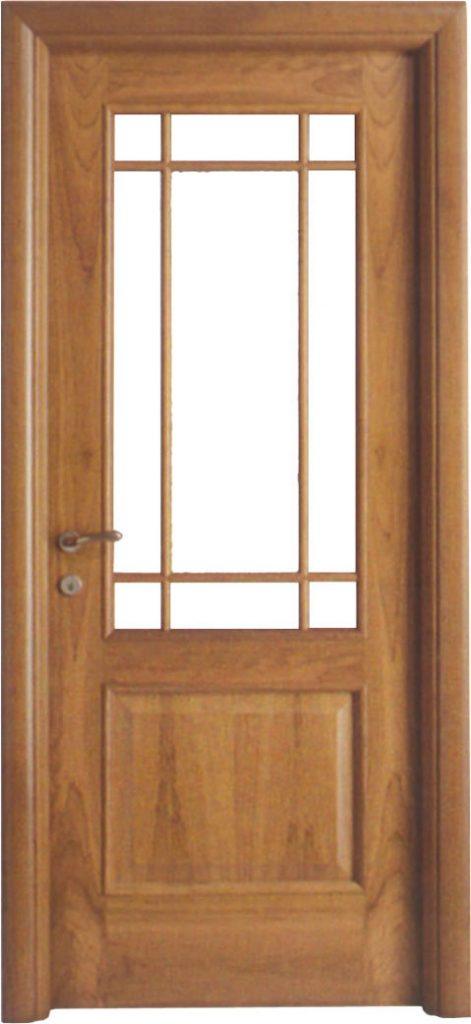 Usa de interior din lemn cu geam model A84