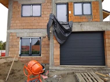 Usa de garaj sectionala gri antracit