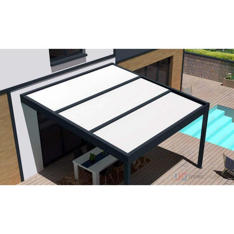 pergola toit coulissant polycarbonate