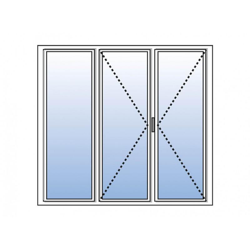 porte fenetre pvc 3 vantaux sur mesure