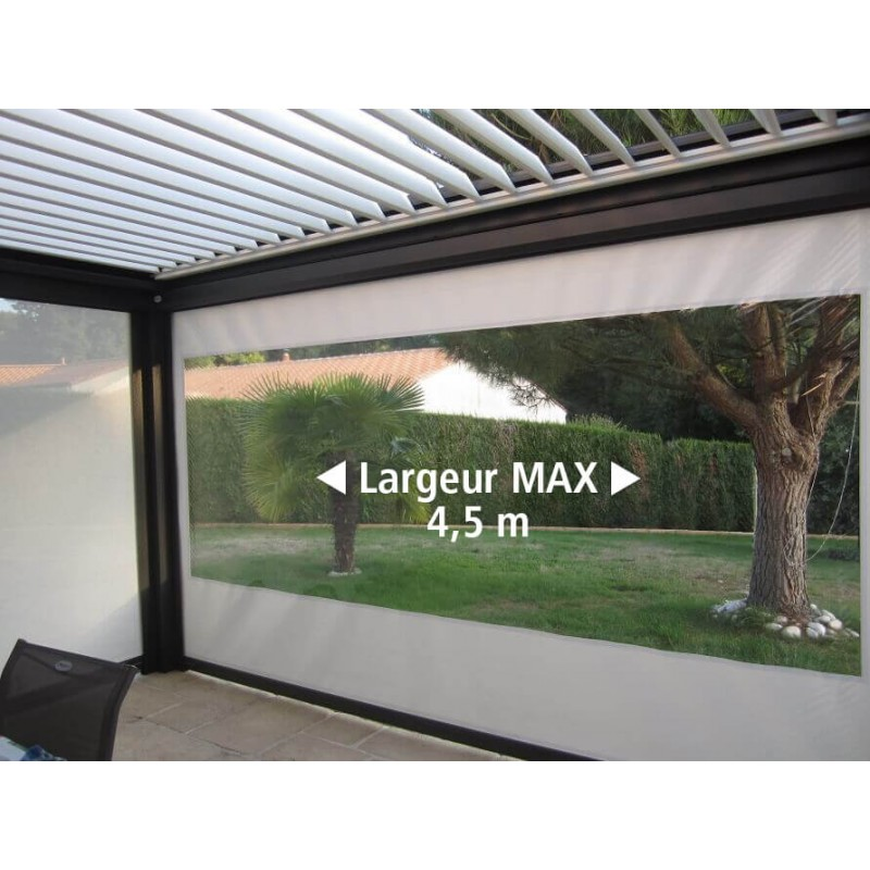 store vertical exterieur toile pvc