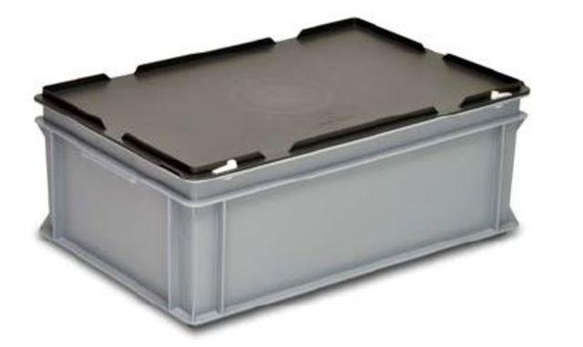 bac mallette rako en plastique avec couvercle 400 x 300 x 336 mm 35 205 7