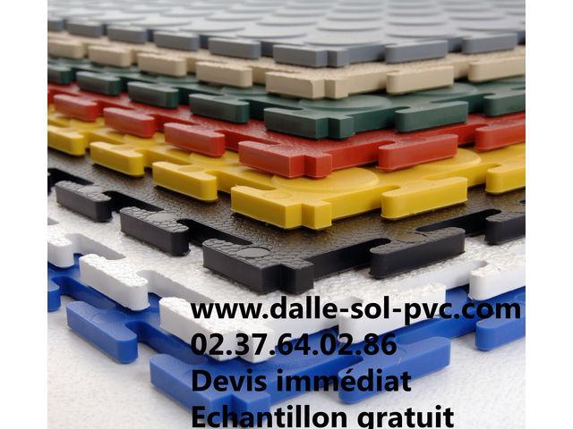 revetement de sol industriel atelier dalle pvc clipsable dallindus 7 mm