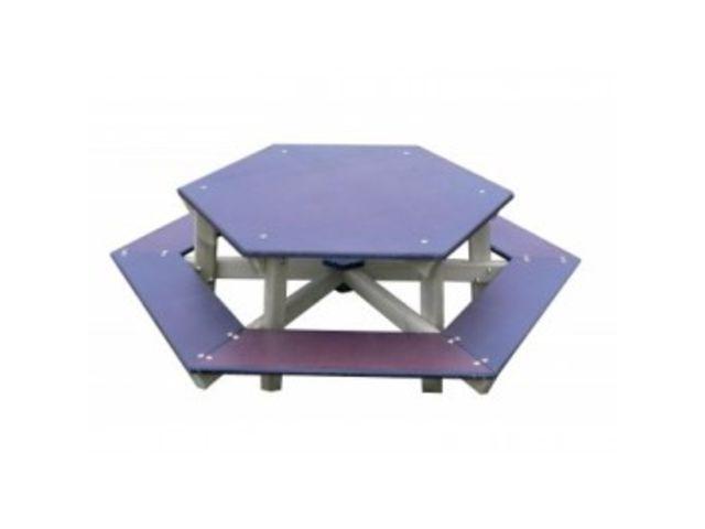 table pique nique enfant hexagonale