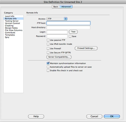 Setting up a remote server