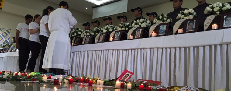 "Religious ceremony last December in Meta returning remains of 29 ""disappeared""."