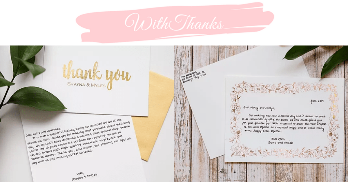 US Japan Fam's Happy New Year Giveaway for Women - WithThanks Handwritten Thank You Cards