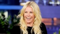 Chelsea Handler appears on the Tonight Show With Jay Leno at NBC Studios on February 7, 2012 in Burbank, California.