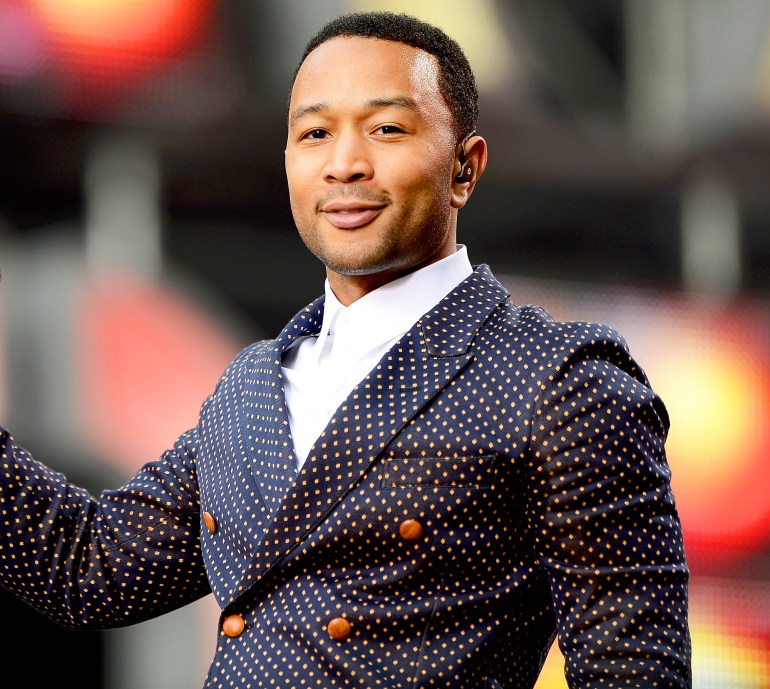 """John Legend performs on stage at the """"Chime For Change: The Sound Of Change Live"""" Concert at Twickenham Stadium on June 1, 2013 in London, England."""