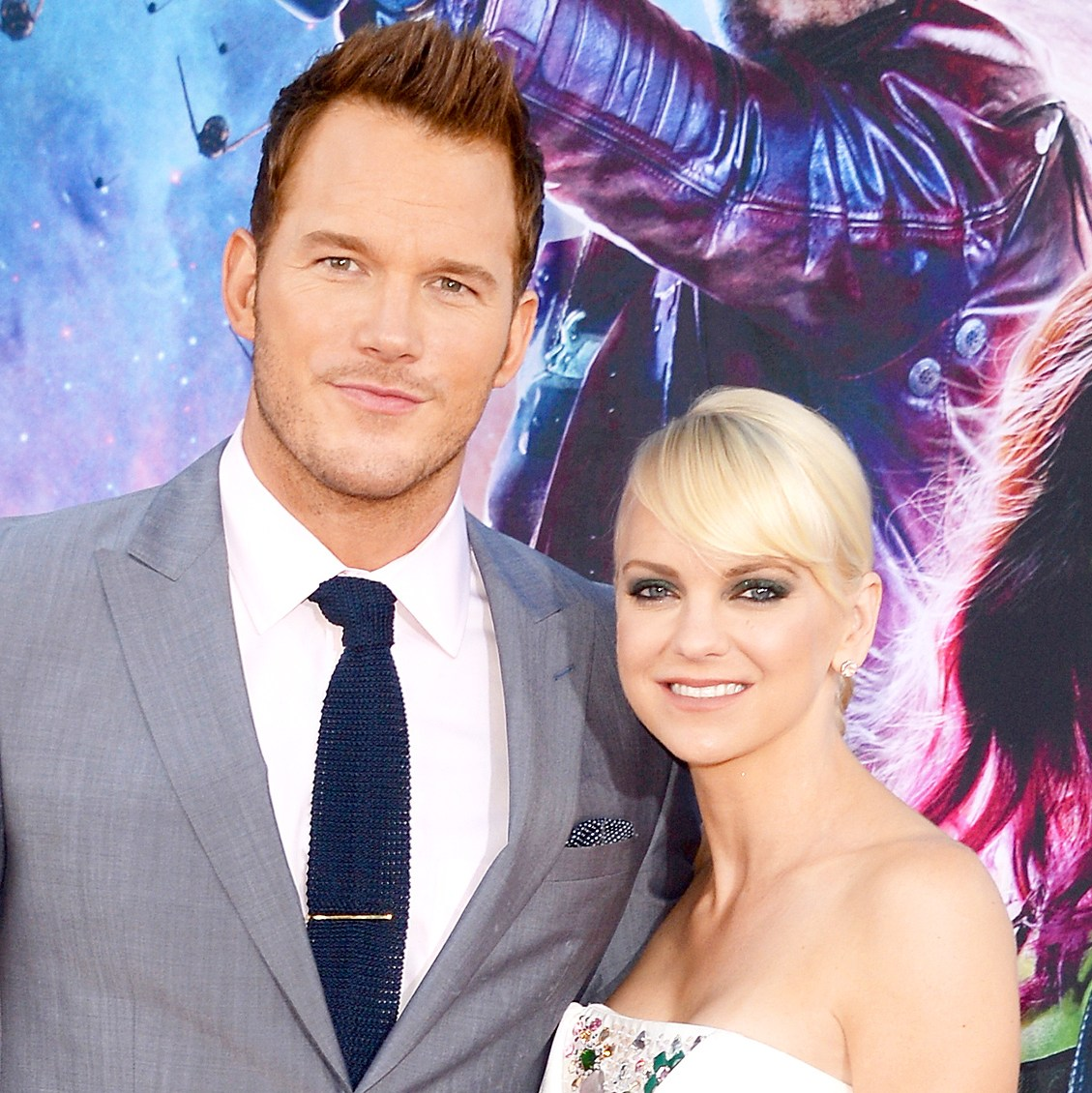 Chris Pratt and Anna Faris attend the premiere of Marvel's 'Guardians Of The Galaxy' at the Dolby Theatre on July 21, 2014 in Hollywood, California.
