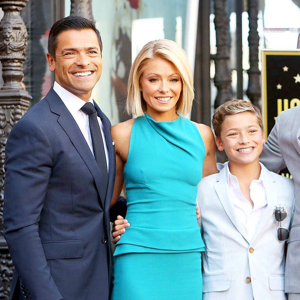 Kelly Ripa and Mark Consuelos with their children Joaquin, Michael and Lola attend the ceremony honoring Kelly Ripa with a Star on The Hollywood Walk of Fame held on October 12, 2015 in Hollywood, California.