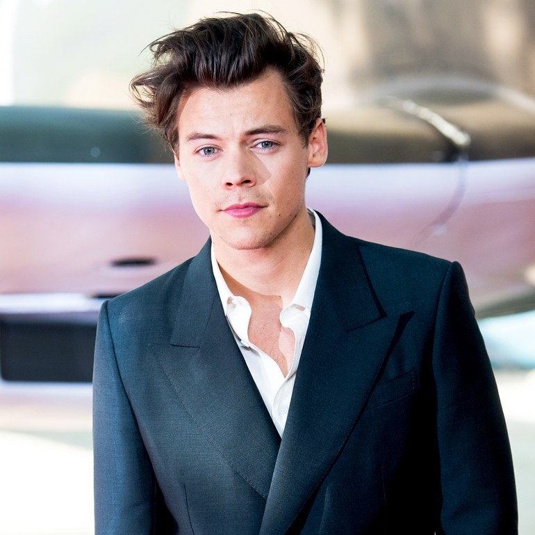 """Harry Styles arriving at the """"Dunkirk"""" World Premiere at Odeon Leicester Square on July 13, 2017 in London, England."""