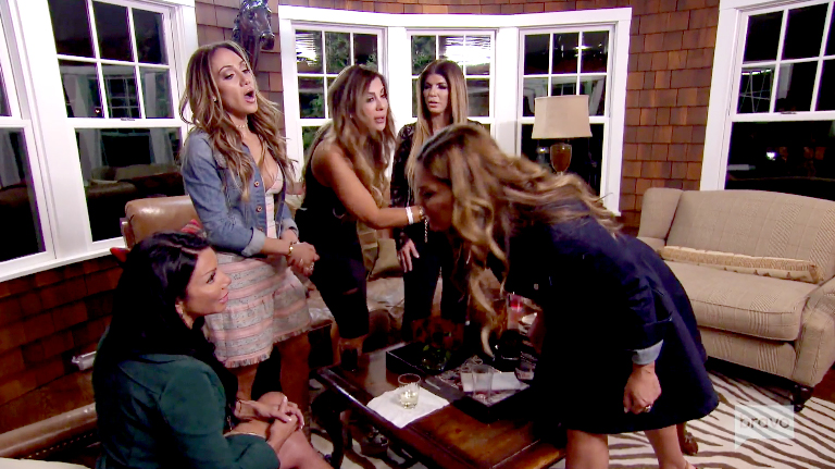 Real Housewives of New Jersey fighting