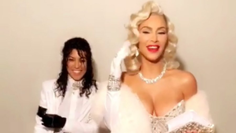 Kourtney Kardashian, Kim Kardashian West, Michael Jackson, Marilyn Monroe, Halloween Costume