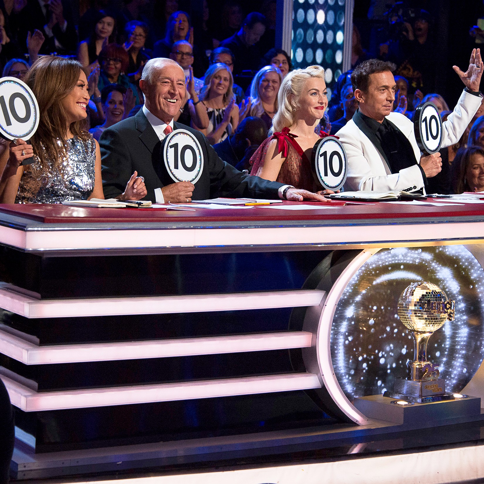'Dancing With The Stars' judges Carrie Ann Inaba, Len Goodman, Julianne Hough and Bruno Tonioli